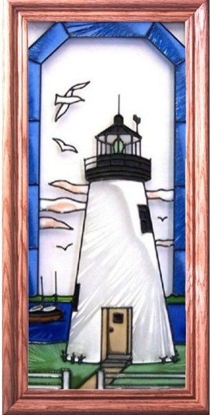 Artistic Gifts Art Glass C112 Concord Point MD Vertical Panel