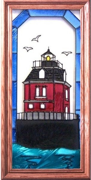 Artistic Gifts Art Glass C117 Sandy Point MD Vertical Panel