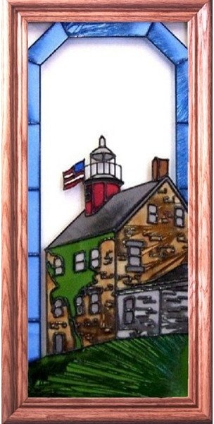 Artistic Gifts Art Glass C119 Old Selkirk NY Vertical Panel