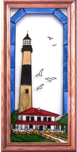 Artistic Gifts Art Glass C125 Absecon NJ Vertical Panel