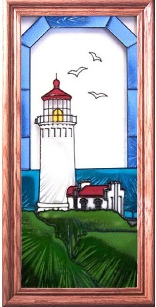 Artistic Gifts Art Glass C135 North Head WA Vertical Panel