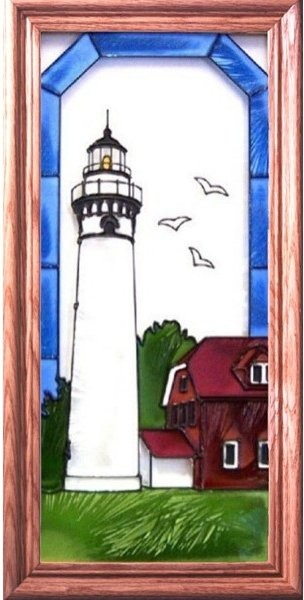 Artistic Gifts Art Glass C136 Outer Island WI Vertical Panel