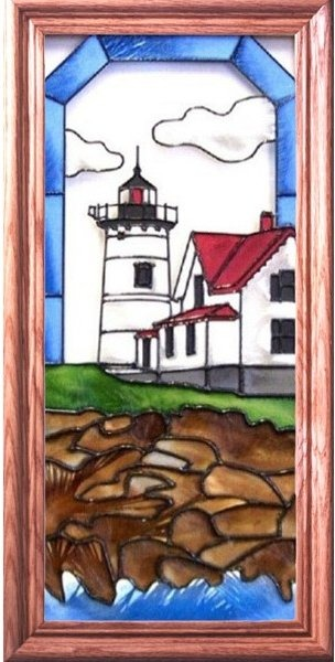 Artistic Gifts Art Glass C144 Nubble ME Vertical Panel