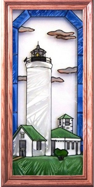 Artistic Gifts Art Glass C150 Tibbetts Point NY Vertical Panel