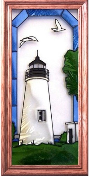 Artistic Gifts Art Glass C156 Turkey Point MD Vertical Panel