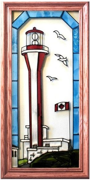 Artistic Gifts Art Glass C163 Yarmouth CanadaI Vertical Panel
