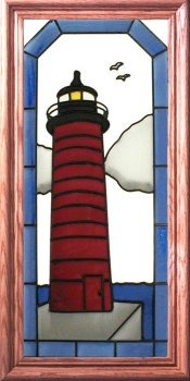 Artistic Gifts Art Glass C165 Kenosha North WI Vertical Panel