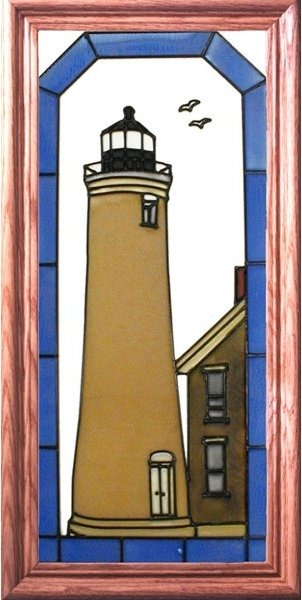 Artistic Gifts Art Glass C166 Kenosha WI Vertical Panel