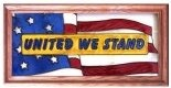 Artistic Gifts Art Glass C192 United We Stand Horizontal Panel
