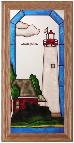 Artistic Gifts Art Glass C237 MI St. Helena Panel