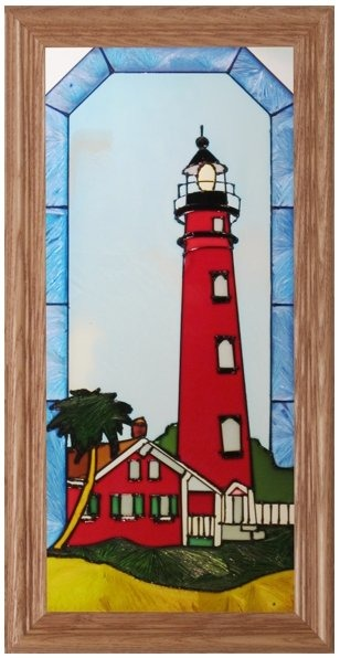 Artistic Gifts Art Glass C245 FL Ponce Inlet Panel