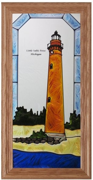 Artistic Gifts Art Glass C249 MI Little Sable Point Panel