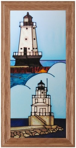 Artistic Gifts Art Glass C252 WI Manitowoc Ludington Panel