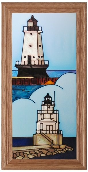 Artistic Gifts Art Glass C252a MI Ludington Manitowoc Panel