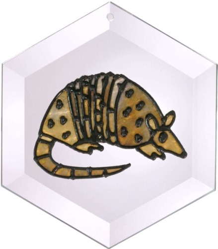 Artistic Gifts Art Glass E058 Armadillo Hex Suncatcher