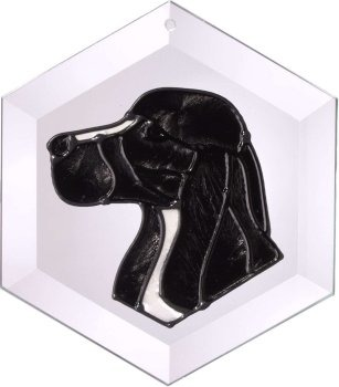 Silver Creek Art Glass EW124 Cocker Spaniel Eng Hex Suncatcher
