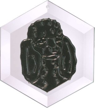 Artistic Gifts Art Glass EW181B Poodle - Black Hex Suncatcher Glass Made in the USA $18.99