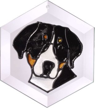 Artistic Gifts Art Glass EW232 Greater Swiss Mtn II Hex Suncatcher Glass Made in the USA $18.99