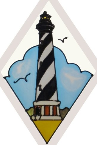 Artistic Gifts Art Glass F534 NC Cape Hatteras Beveled Suncatcher