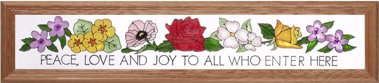 Artistic Gifts Art Glass L018 Blessing Peace Horizontal Panel