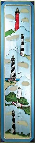 Artistic Gifts Art Glass R142 Group - Outer Banks Vertical Panel