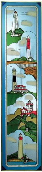 Artistic Gifts Art Glass R143 Group - New Jersey Vertical Panel