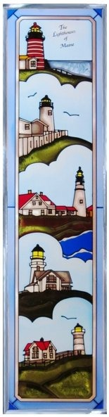 Artistic Gifts Art Glass R163 ME Lighthouse Group Panel