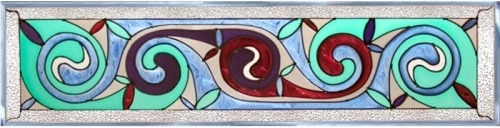 Artistic Gifts Art Glass R175 Celtic Spiral Panel