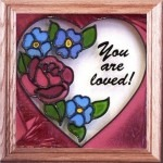 Silver Creek Art Glass S011 You are Loved Panel