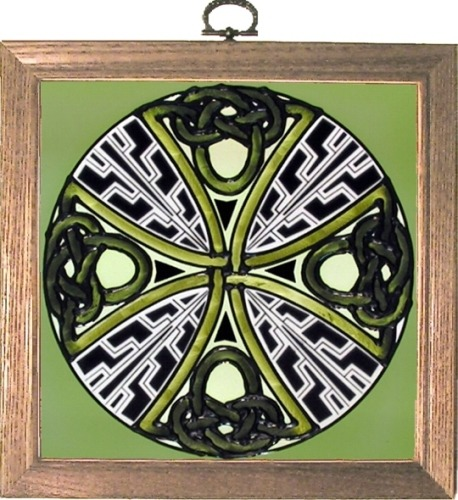Artistic Gifts Art Glass S053 Knotted Cross Panel