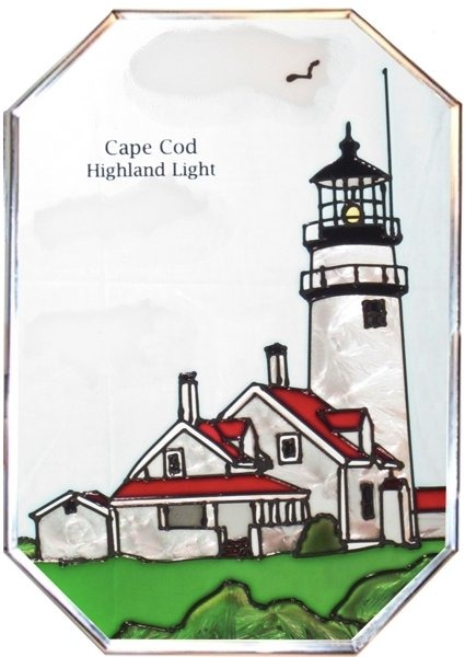 Artistic Gifts Art Glass Z005 MA Highland Cape Cod Octagon