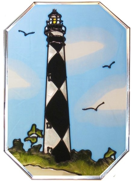 Artistic Gifts Art Glass Z006 NC Cape Lookout Octagon