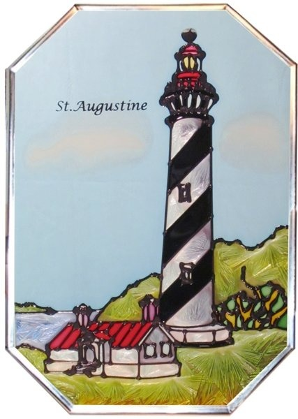 Artistic Gifts Art Glass Z007 FL St. Augustine Octagon