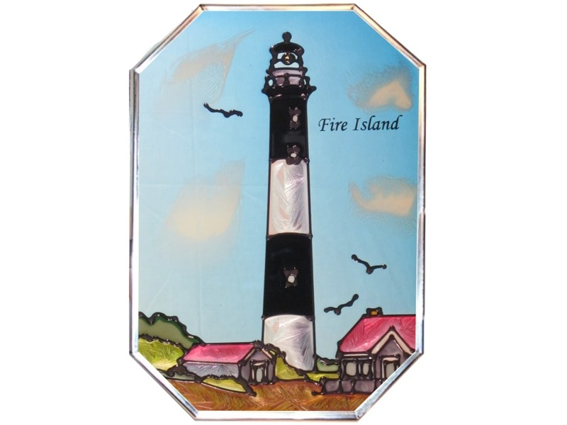 Artistic Gifts Art Glass Z012 NY Fire Island Octagon