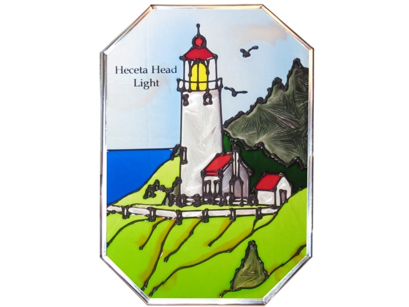 Artistic Gifts Art Glass Z017 OR Heceta Head Octagon
