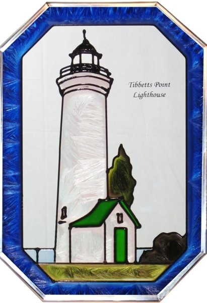 Artistic Gifts Art Glass Z026 NY Tibbetts Point Octagon