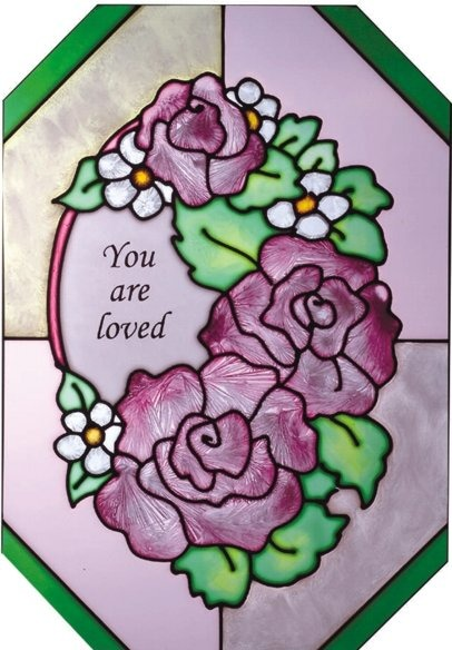 Artistic Gifts Art Glass Z121 You are loved Octagon
