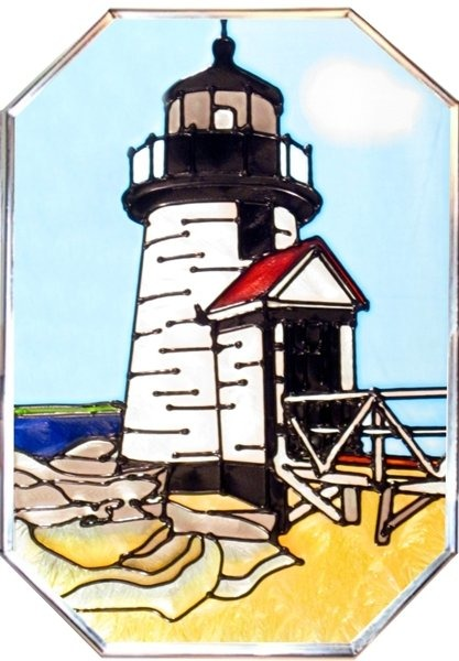 Artistic Gifts Art Glass Z307 MA Brant Point Octagon