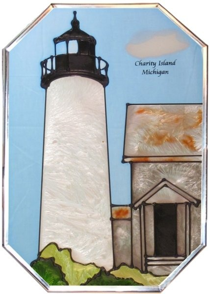 Artistic Gifts Art Glass Z310 MI Charity Island Octagon