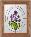 Silver Creek Art Glass A003 Violets Panel
