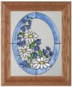 Silver Creek Art Glass A009 Flowers Panel