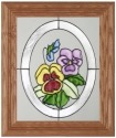 Silver Creek Art Glass A010 Pansy Panel