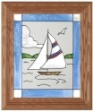 Silver Creek Art Glass A012 Sailboat Panel