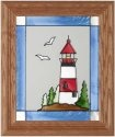 Silver Creek Art Glass A013 Lighthouse Vertical Panel