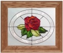 Silver Creek Art Glass A018 Rose Panel