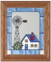 Artistic Gifts Art Glass A019 Farm Windmill Panel