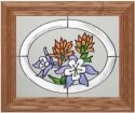 Silver Creek Art Glass A027 Columbine in Oval Horizontal Panel
