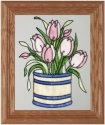 Silver Creek Art Glass A044 Tulip Vertical Panel