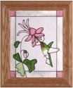 Artistic Gifts Art Glass A050 Hummingbird Vertical Panel