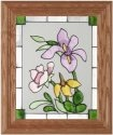Silver Creek Art Glass A056 Wildflowers Vertical Panel